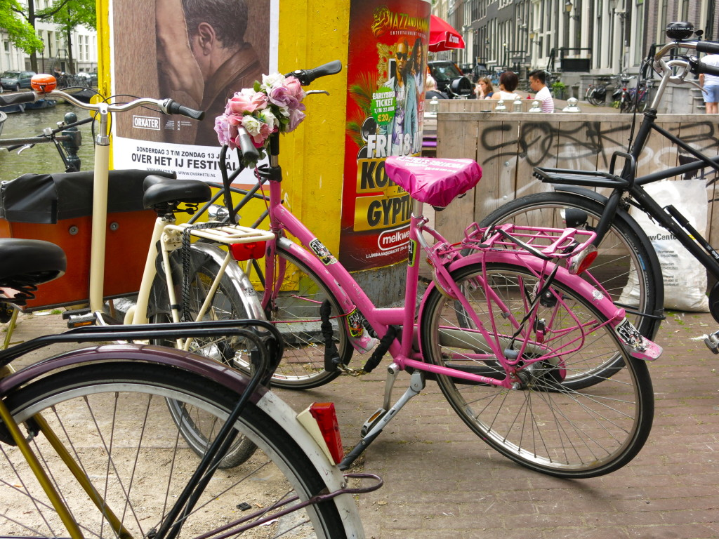 Pink Bike with Flowers