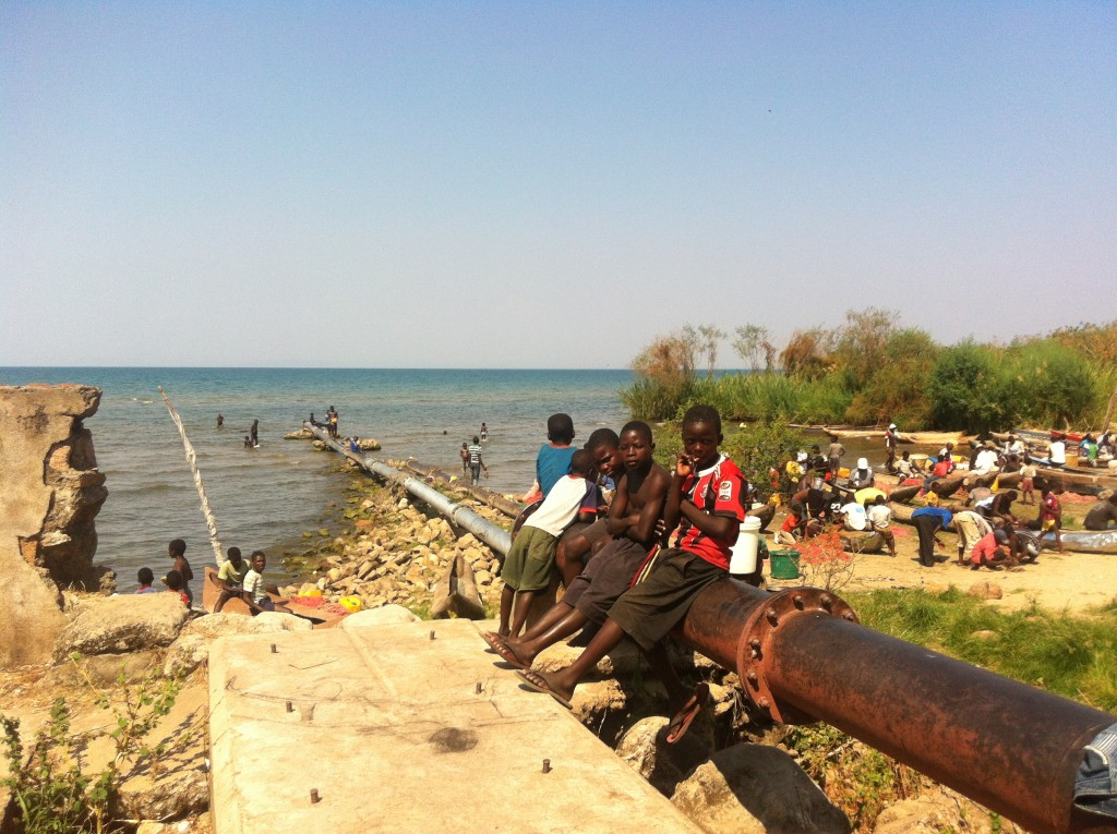 Children Lake Malawi