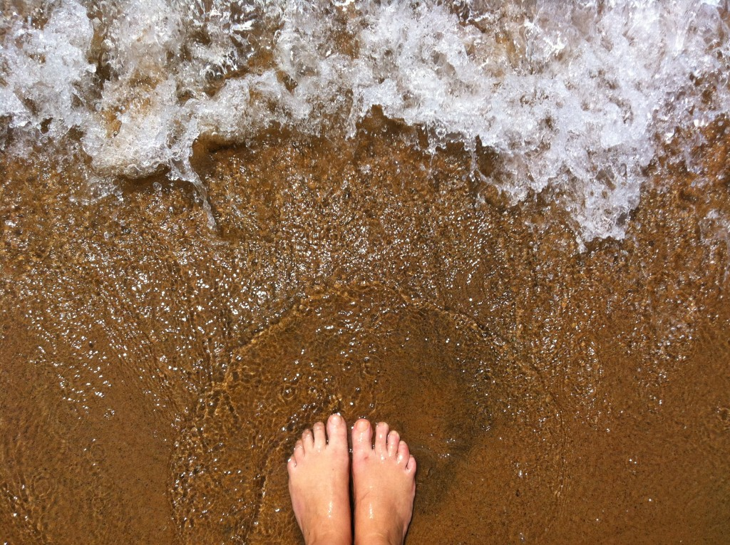 Feet in Lake Malawi