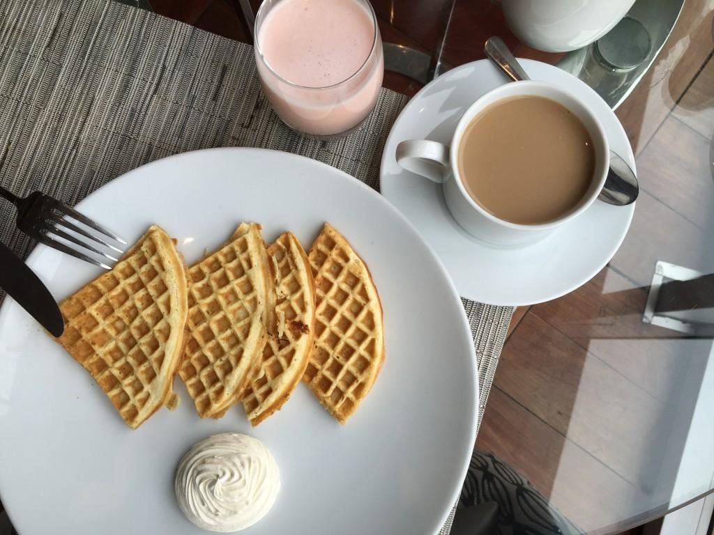 Gautrain Hotel Breakfast Waffles