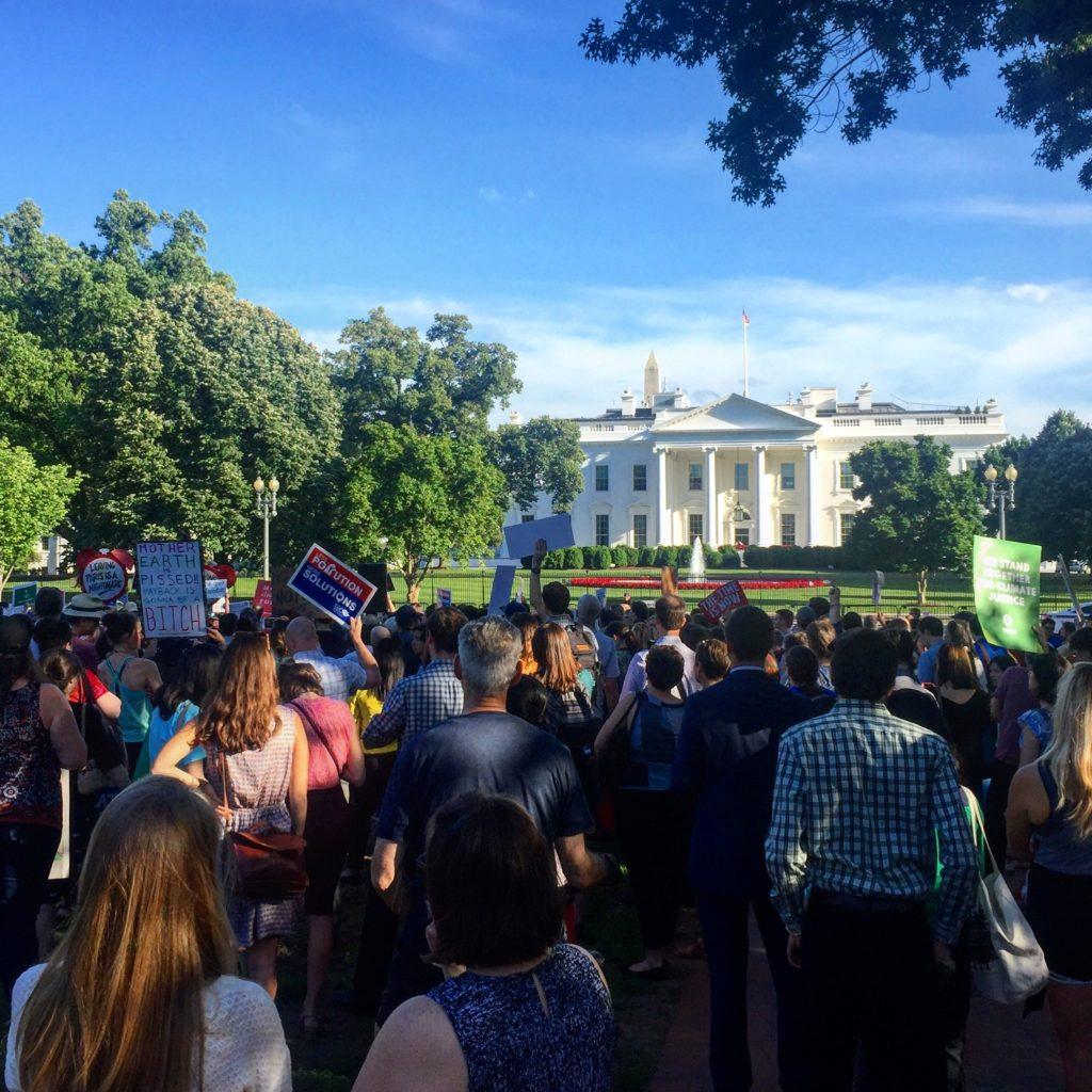 Climate Change Protest Lafayette Park