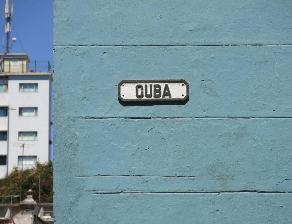 Cuba street sign